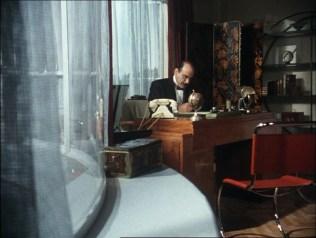 El apartamento de Poirot.