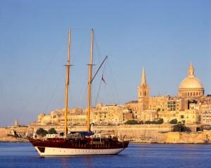 Valletta in the background