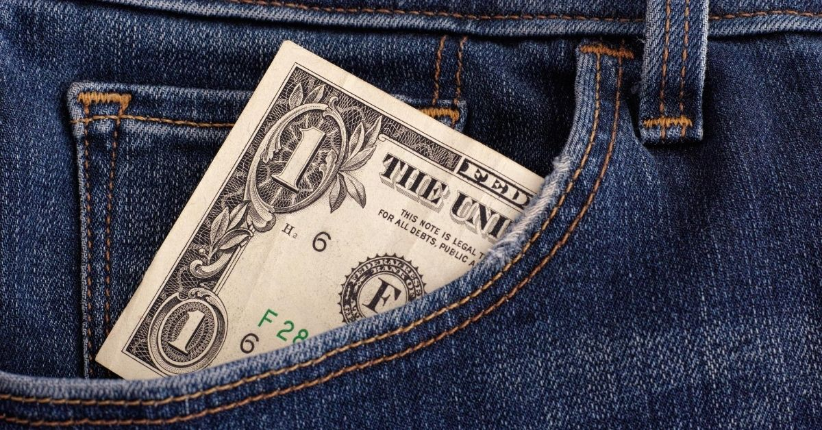 My Money Confessional Edition 1 - picture of dollar bill in jeans pocket