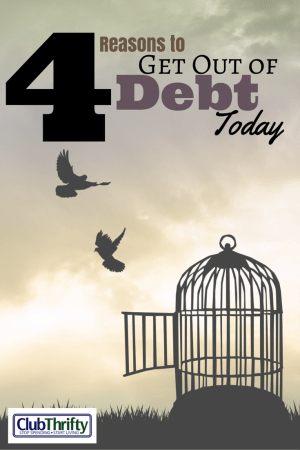 Debt. It's just another four letter word in our vocabulary, yet it manages to control much of what we do. Here are 4 reasons to get out of debt today!