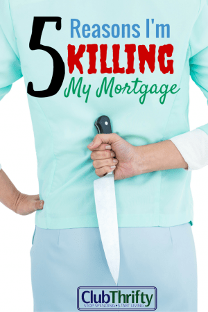 Yep! I'm killing it! I know the arguments against it. I've heard it all, but I don't care. Here are 5 reasons that I'm killing my mortgage.