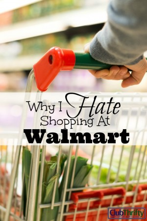I hate Walmart. The prices may be great, but I'd rather eat red hot charcoal than shop at their stores. Could they at least put in some windows?