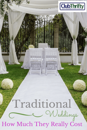 """How much does it really cost to throw a traditional wedding? The answer...A LOT. Remember that the """"big fat wedding"""" usually refers to the bill."""