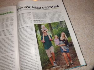 Me, my husband, and my two daughters in the September issue of Kiplinger magazine