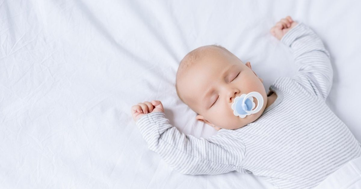 Budgeting for the Big Stuff - picture of sleeping baby with pacifier