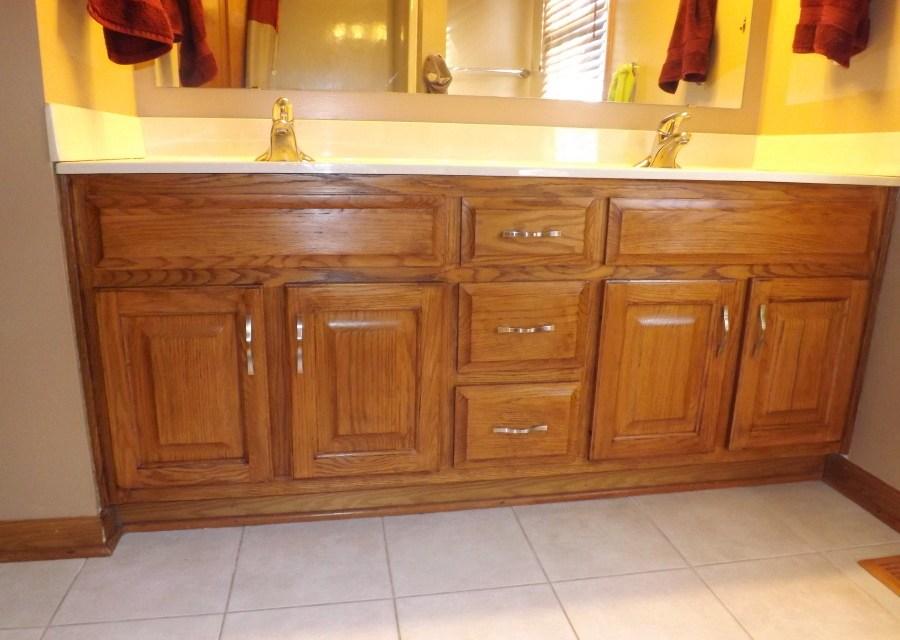 Bathroom Cabinet Remodel My Frugal Bathroom Cabinet Remodel  Club Thrifty