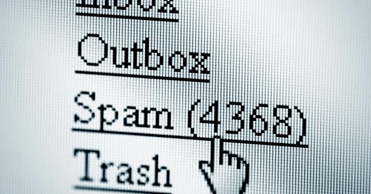 I Hate Spam - screenshot of email inbox with spam folder showing 4368 emails in it