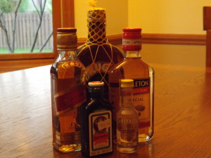 My Small Collection of Miniature Booze Bottles