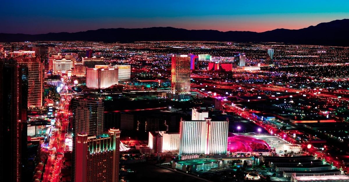 Las Vegas On a Budget - picture of Las Vegas at night