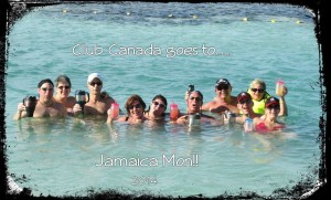 Here we are with our Canadian friends in Jamaica....