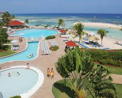 The pool area at the Holiday Inn in Montego Bay