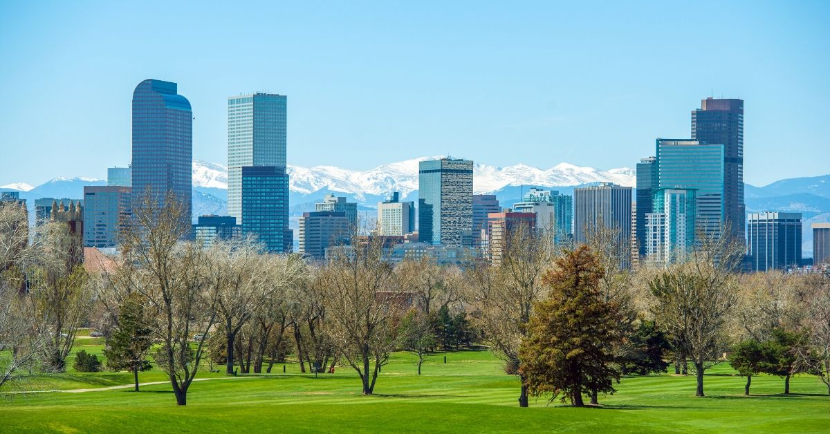 My Frugal Trip to Denver with Credit Card Rewards - picture of Denver skyline