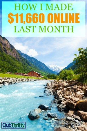 My income this month was my best to date. Learn how I made over $11K working online this month, all from the comfort of my own home (and in my pajamas)!