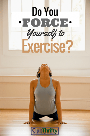Do you have to force yourself to exercise? I do, and I'm not afraid to admit it. Read this post for my forced exercise strategies.