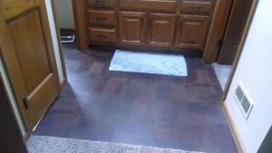 Peel-n-stick floors: Functional, but not cute
