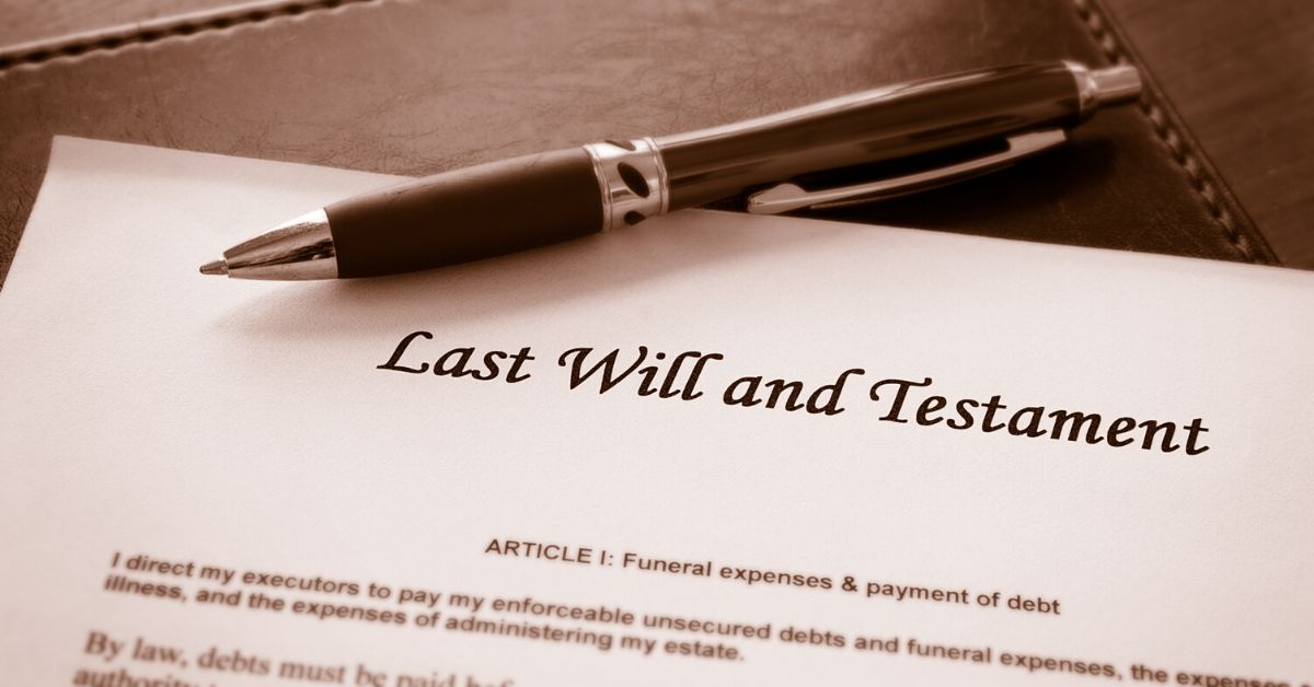 What If I Di? An Update Post - picture of last will and pen