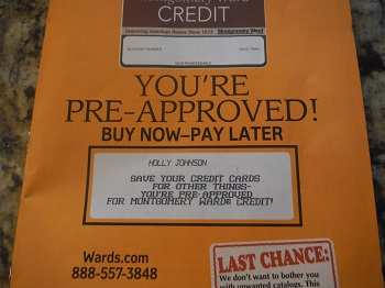 Save your credit for other things?
