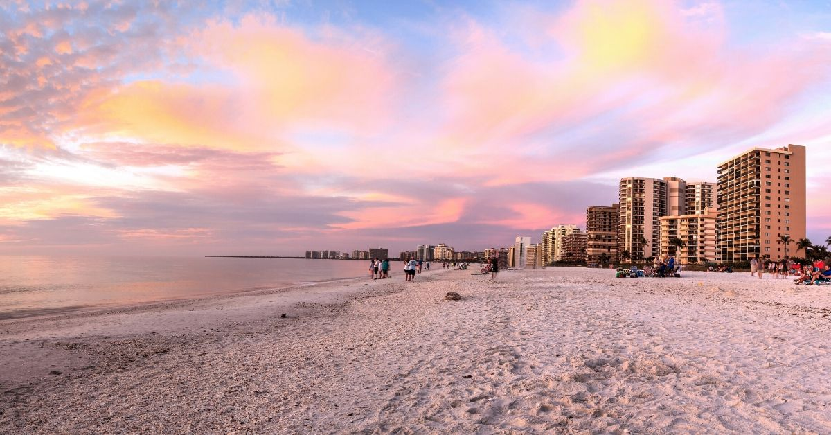 Our Budget Travel Plans for the Rest of 2015 - picture of Marco Island beach at sunset