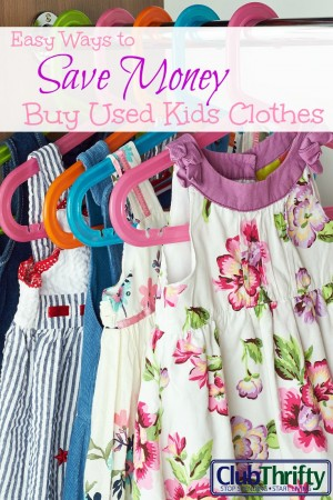 We all know that kids can be expensive, but that doesn't mean there aren't some easy ways to save money. Try buying used kids clothes!