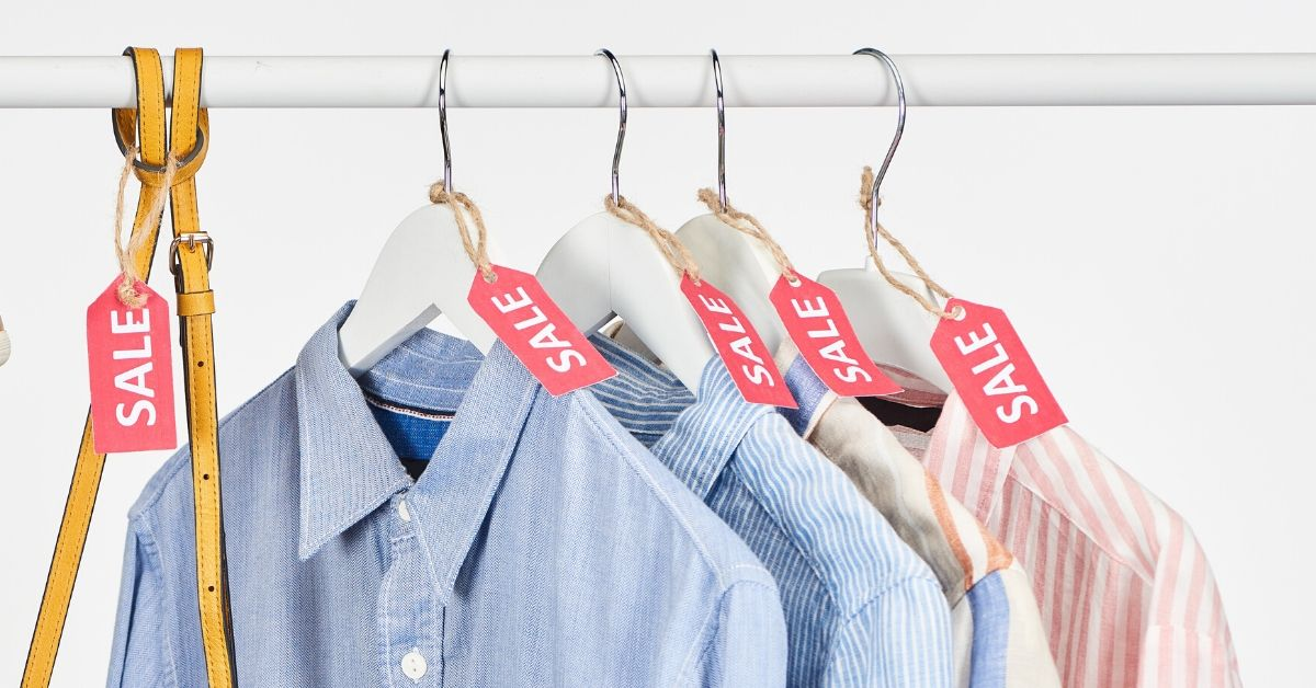 Shopaholics Step Away from the Clearance Aisle - picture of shirts with sale tags