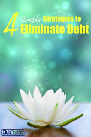 We know what the weight of debt feels like...and it is heavy. Here are 4 simple strategies for reducing debt and getting your finances on track today!