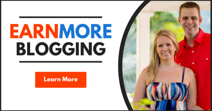 earn more blogging course - learn more button