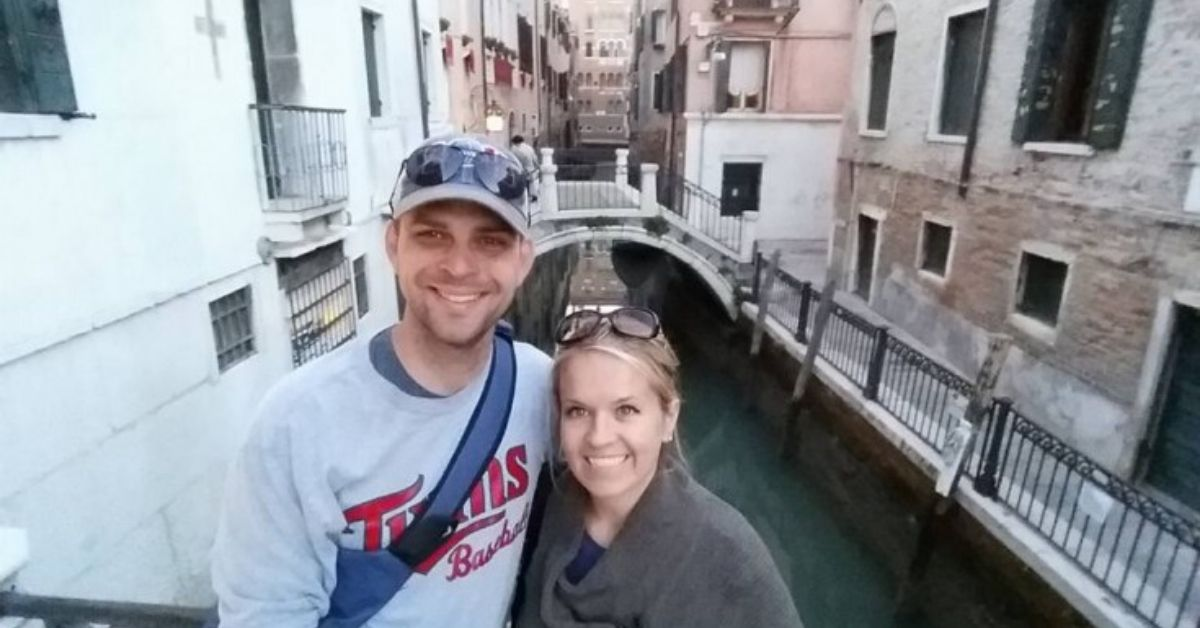 Italy on Credit Card Rewards Part Two - picture of Holly and Greg in Venice