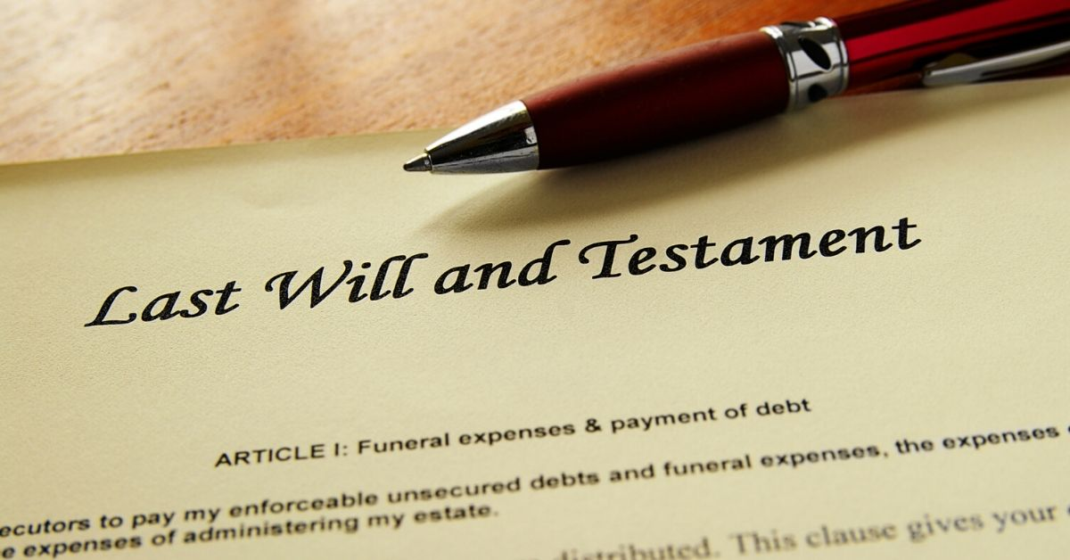 Estate Planning - picture of last will and testament with pen