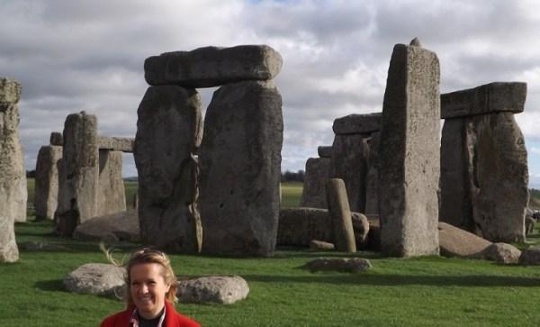 Holly at Stonehenge