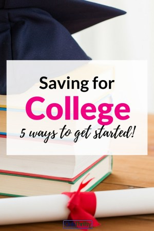Worried about saving for college? Paying for college can be tough, but it's not impossible. Here are 5 options for starting a college savings plan now.