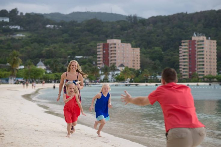 Packing for Jamaica - our family on the beach