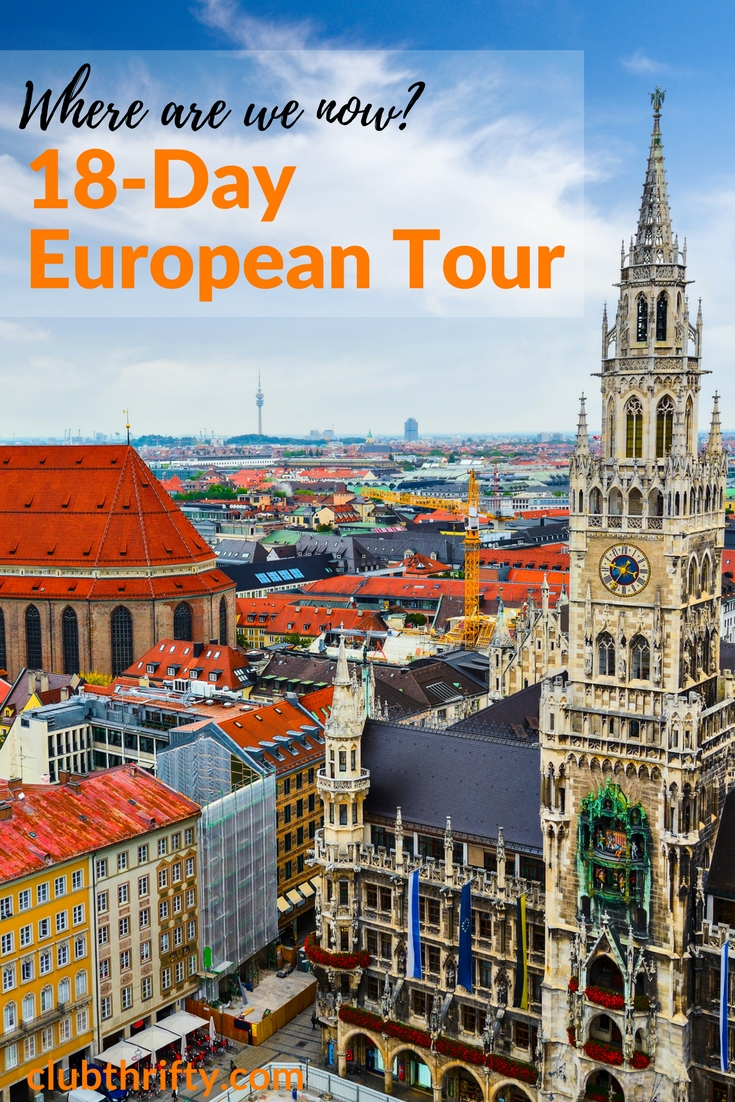 We're on our way to Italy, Switzerland, and Germany! Here's a quick overview of our itinerary so you can follow along with our 18-day European tour.