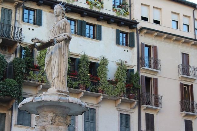 family trip to europe - verona piazza erbe