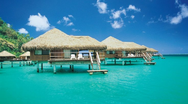 Image of over the water bungalows at Royal Huahine Resort
