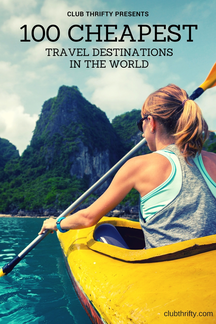 Image of woman in kayak - cheapest places to travel