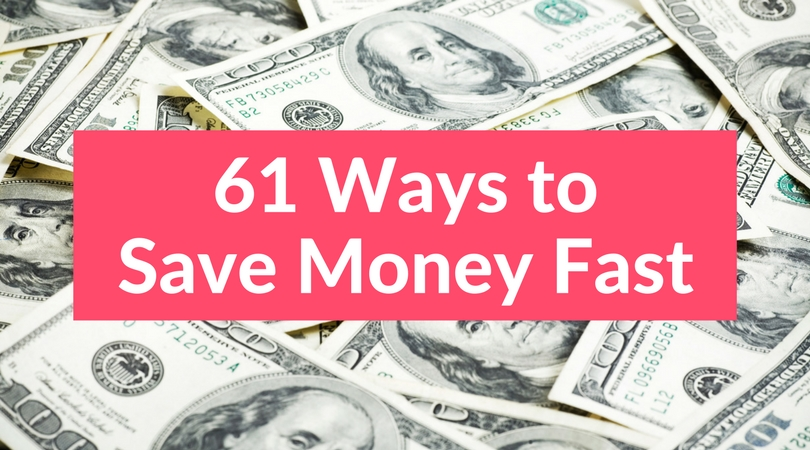Looking for ways to save money on a tight budget? This huge list of simple money saving tips can help you learn how to save money fast! Try these money saving ideas and start saving more money today.