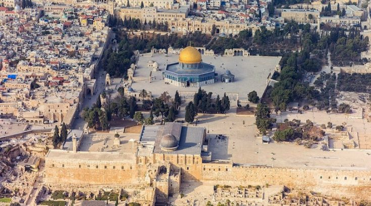 aerial view of Temple Mount in Jerusalem