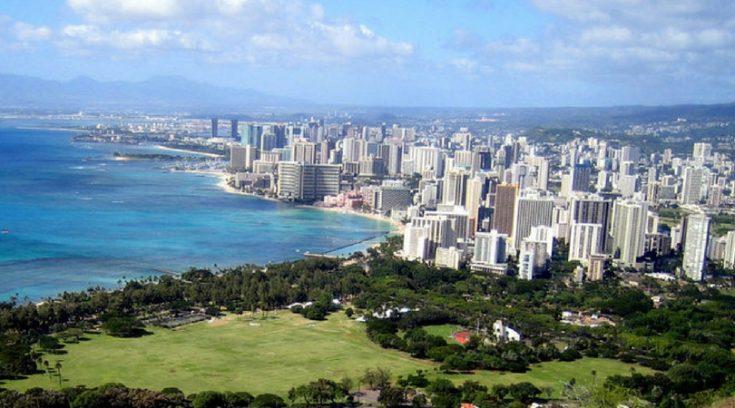 aerial photo of Honolulu