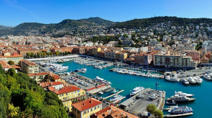 cheapest places to travel in france - aerial view of Nice