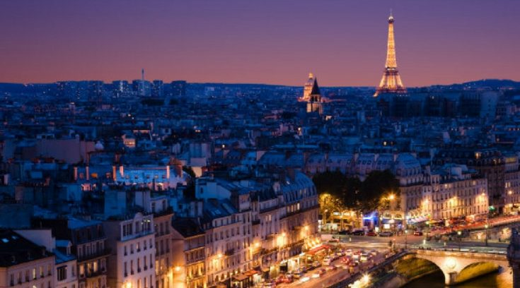 cheap places to travel - image of Paris at night
