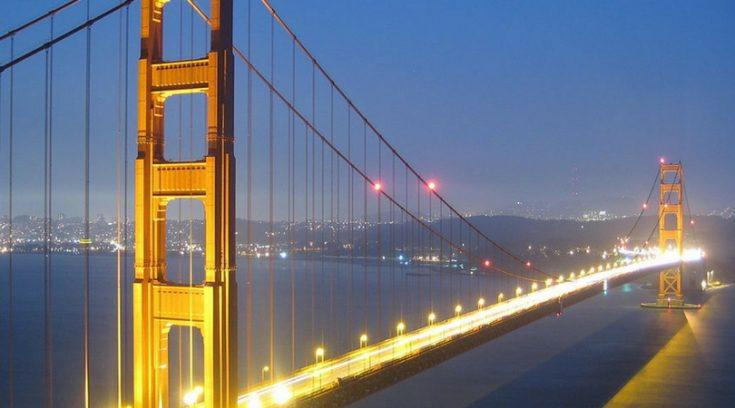 photo of Golden Gate Bridge at night