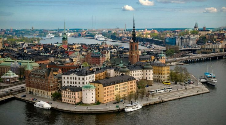 aerial view of Stockholm