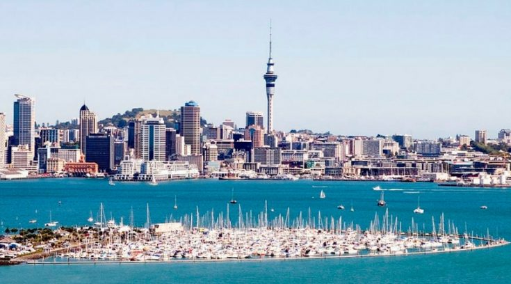 cheapest places to visit - view of Auckland from the water
