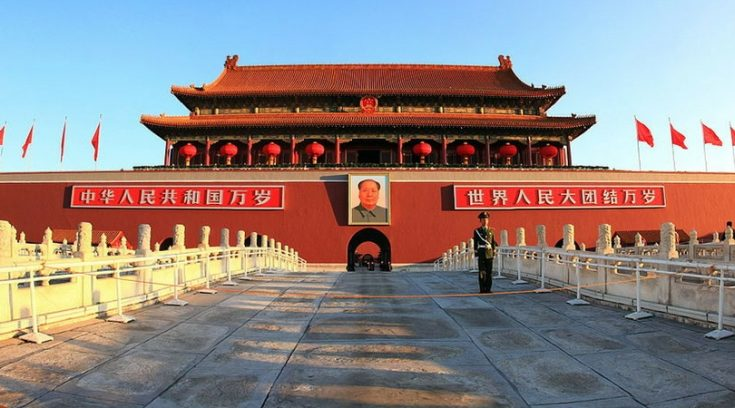 cheapest places to travel - image of the gate to Tiananmen in Beijing