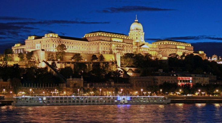 cheapest places to travel - image of Budapest from the Danube at night
