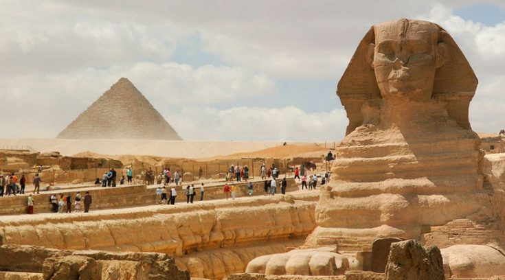 cheapest places to travel - image of Great Sphinx and pyramid