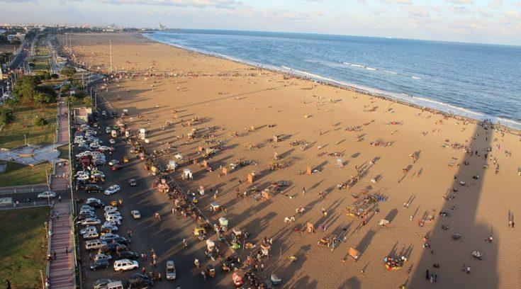 image of beach in Chennai