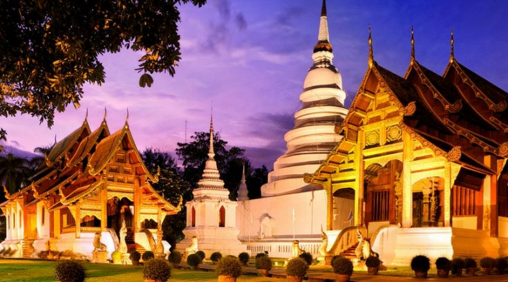 cheap places to travel - image of Chiang Mai tmeples