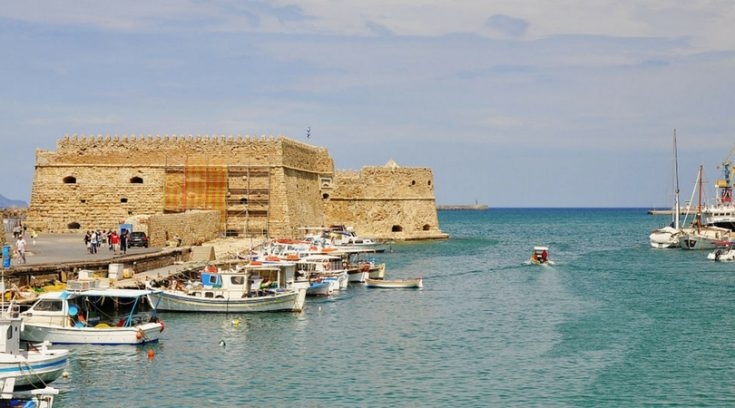 cheapest places to travel - view of bay in Heraklion