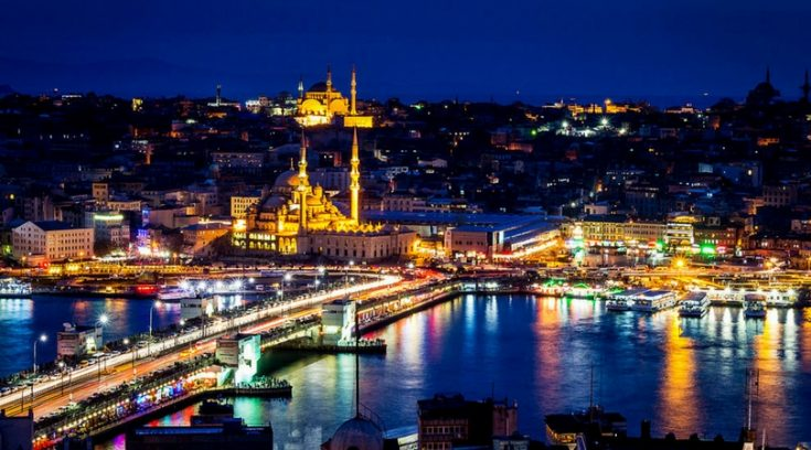 image of Istanbul at night
